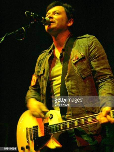 James Dean Bradfield of Manic Street Preachers during Manic Street Preachers in Concert at the Astoria May 30 2007 at The Astoria in London Great...