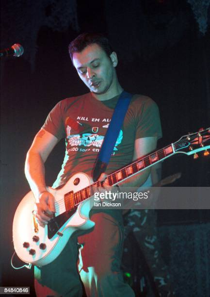 James Dean Bradfield of Manic Street Preachers performing live onstage at Brixton Academy, 28th January 1994.