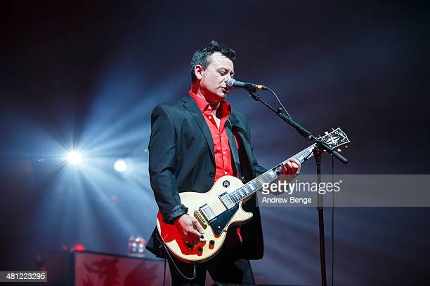 James Dean Bradfield of Manic Street Preachers performs at First Direct Arena on March 28 2014 in Leeds England