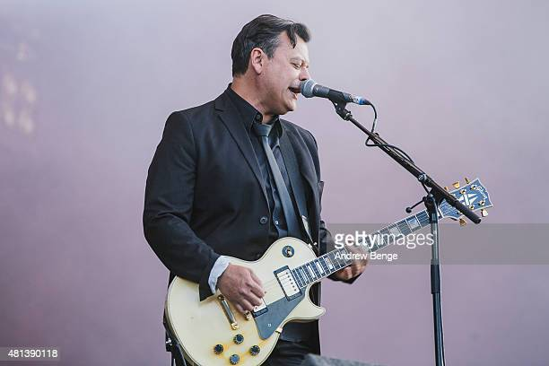 James Dean Bradfield of Manic Street Preachers performs on the Main Stage at Latitude Festival on July 19 2015 in Southwold United Kingdom