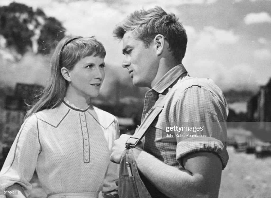 James Dean elicits the sympathy of Julie Harris in a scene