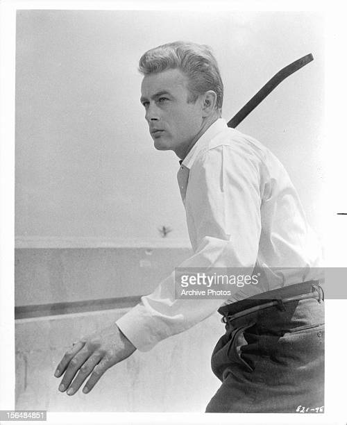 James Dean in a scene from the film 'Rebel Without A Cause' 1955