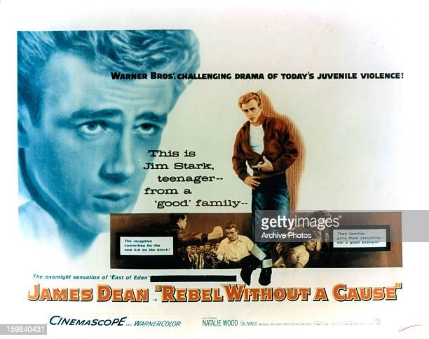 James Dean in movie art for the film 'Rebel Without A Cause' 1955