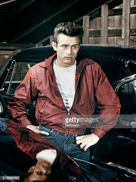James Dean plays Jim Stark in the motion picture Rebel Without a Cause