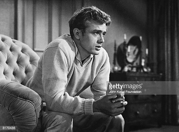 James Dean plays the angstridden Cal Trask in 'East of Eden' directed by Elia Kazan and based on the novel by John Steinbeck