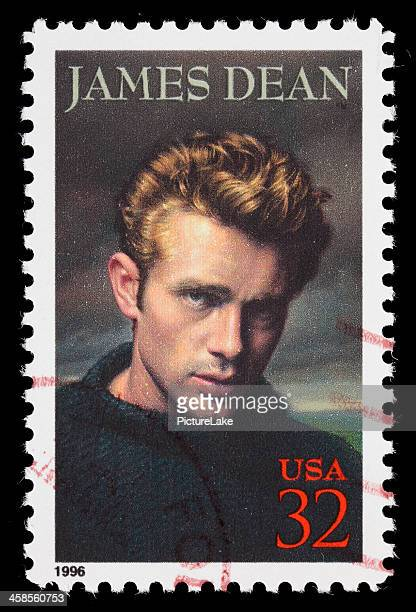 usa james dean postage stamp - james dean stock photos and pictures