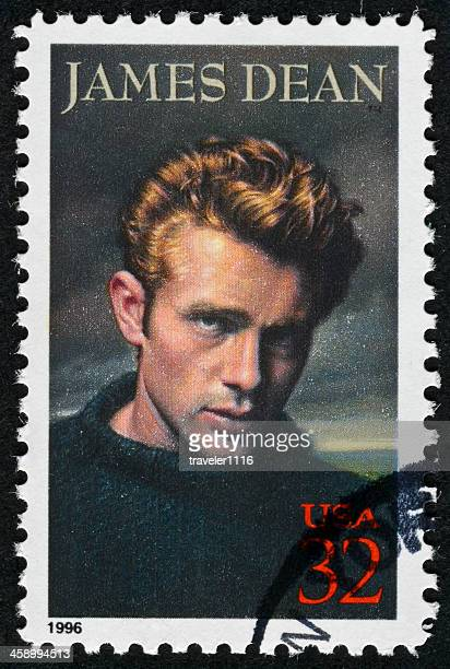 james dean stamp - james dean stock photos and pictures