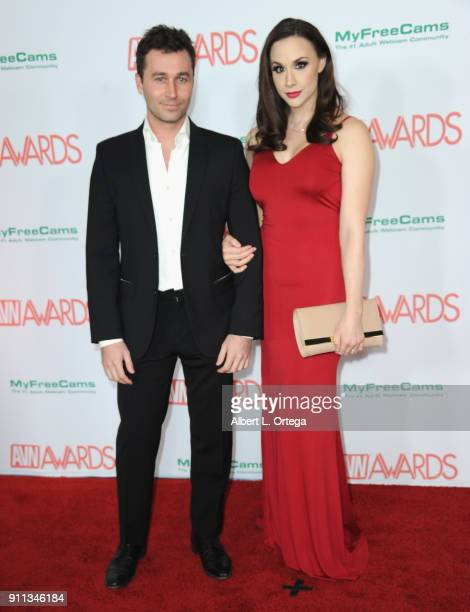 James Deen and Chanel Preston attend the 2018 Adult Video News Awards held at Hard Rock Hotel Casino on January 27 2018 in Las Vegas Nevada
