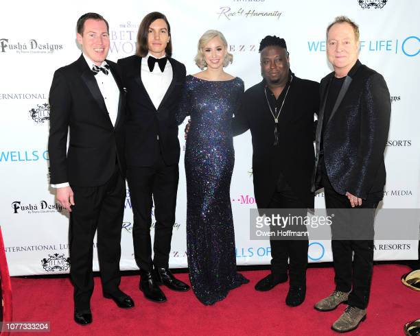 James DeFrances Ian Mellencamp Jazmin Grimaldi Clayton Bryant and Fred Schneider attend Wells Of Life Charity Benefits At The 8th Annual Better World...