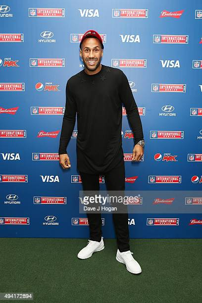 James DeGale attends the annual NFL International Series as the Jacksonville Jaguars compete against the Buffalo Bills at Wembley Stadium on October...