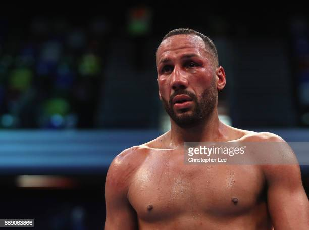 James DeGale looks dejected as he loses to Caleb Truax in the IBF World SuperMiddleweight Championship fight at Copper Box Arena on December 9 2017...