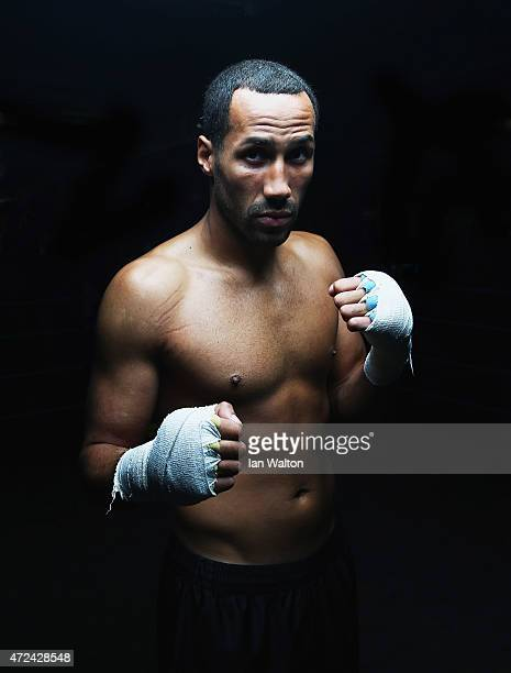 James DeGale Media poses for photographers after a Works out in Stonebridge Boxing Club as he prepares for his clash with Andre Dirrel for the IBF...