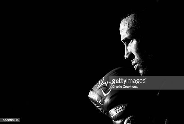James DeGale poses for a photo during a James DeGale Media Workout at Stonebridge Boxing Club on November 12 2014 in London England
