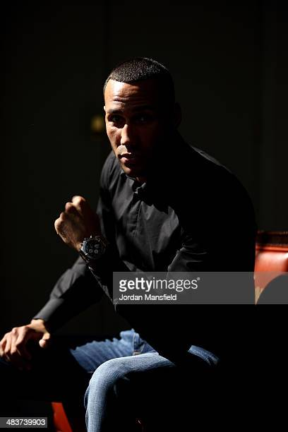 James DeGale poses for photographs after the announcement is made that he has signed to Matchroom Boxing at Trinity House on April 10 2014 in London...