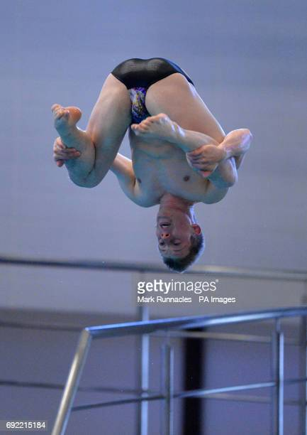 James Denny competing in the Men's 3m final during the British Diving Championships at the Royal Commonwealth Pool Edinburgh