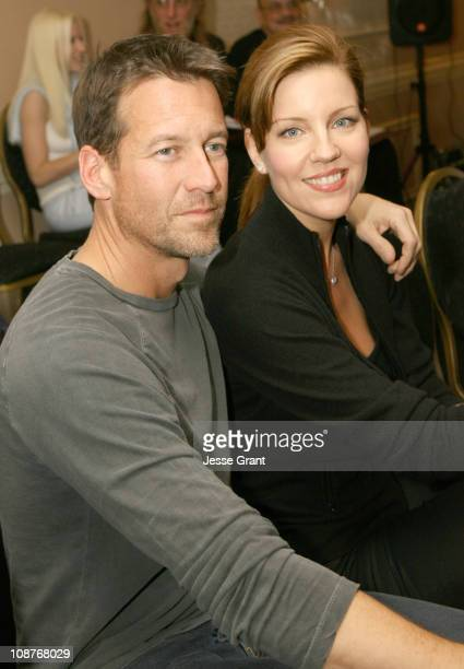 James Denton and Andrea Parker during 'Out at Short' Reading to Benefit Cure Autism Now at Sportsman Lodge in Los Angeles California United States