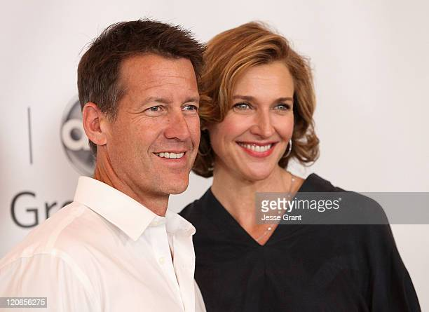 James Denton and Brenda Strong arrive at the Disney ABC Television Group's 'TCA 2001 Summer Press Tour' at the Beverly Hilton Hotel on August 7 2011...