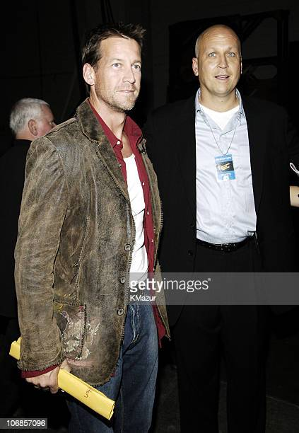 James Denton and Cal Ripken Jr during 33rd Annual American Music Awards Backstage at Shrine Auditorium in Los Angeles California United States