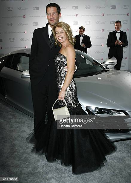 James Denton and Erin O'Brien Denton at Elton John AIDS Foundation Oscar Party Sponsored by Audi