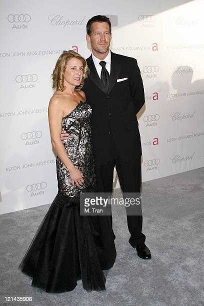 James Denton and Erin O'Brien Denton during 15th Annual Elton John AIDS Foundation Oscar Party at Pacific Design Center in Los Angeles California...