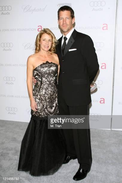 James Denton and Erin O'Brien Denton during 15th Annual Elton John AIDS Foundation Oscar Party at Pacific Design Center in Los Angeles, California,...