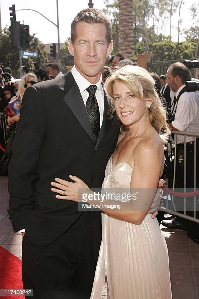 James Denton and Erin O'Brien during 58th Annual Creative Arts Emmy Awards - Arrivals at The Shrine Auditorium in Los Angeles, California, United...