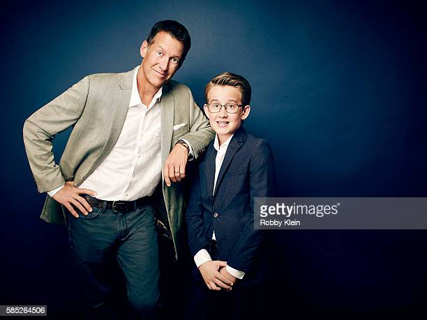 James Denton and Sheppard Denton are photographed at the Hallmark Channel Summer 2016 TCA on July 27 2016 in Los Angeles California