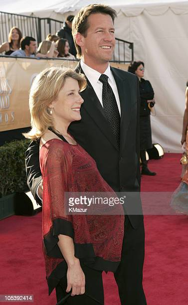 James Denton and wife 8505_KM2_2jpg during TNT Broadcasts 11th Annual Screen Actors Guild Awards Red Carpet at Shrine Auditorium in Los Angeles...