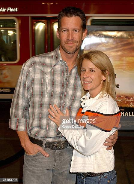 James Denton and wife at the Grauman's Chinese Theatre in Hollywood California