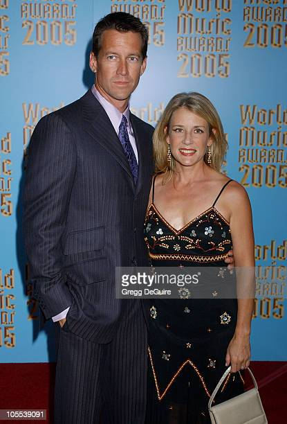 James Denton and wife during 2005 World Music Awards Arrivals at Kodak Theatre in Los Angeles CA United States