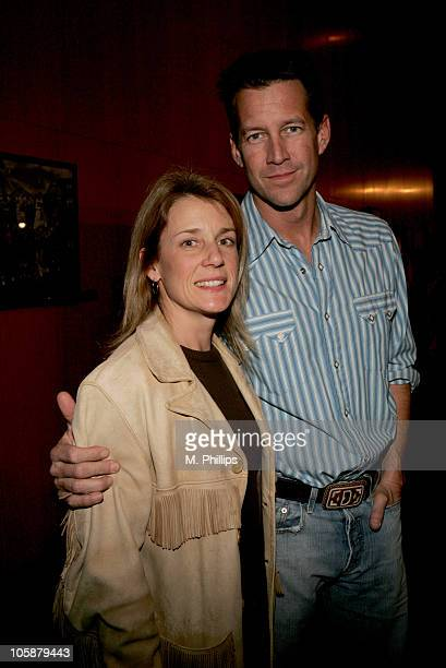 James Denton and wife during Looking for Comedy in the Muslim World Los Angeles Premiere Arrivals at The DGA in Los Angeles California United States
