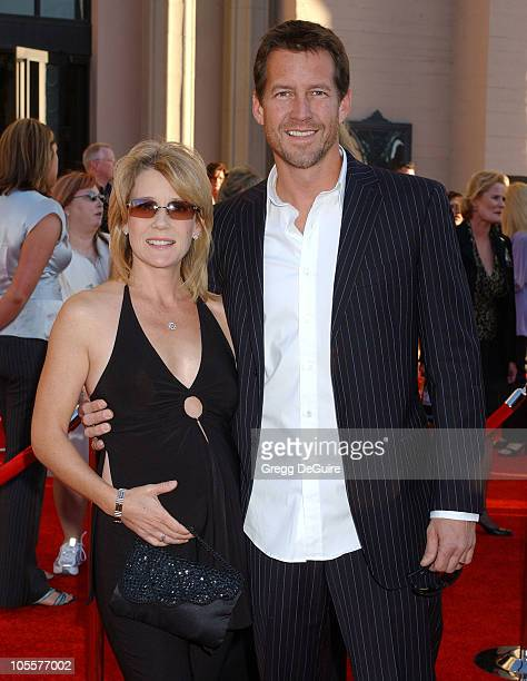 James Denton and wife Erin during 32nd Annual American Music Awards Arrivals at Shrine Auditorium in Los Angeles California United States