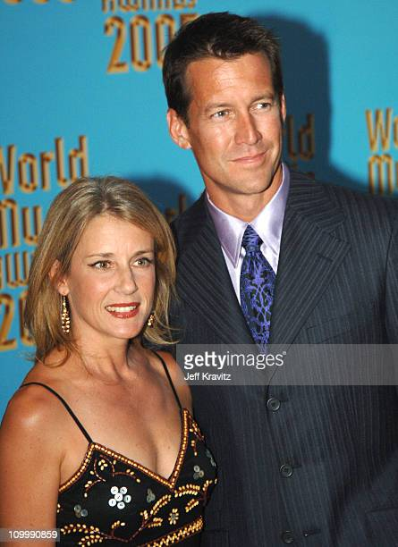 James Denton and wife Erin O' Brien during 2005 World Music Awards Arrivals at Kodak Theater in Hollywood California United States