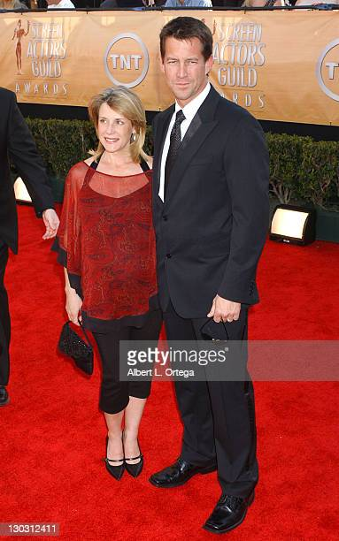 James Denton and wife Erin O'Brien during 11th Annual Screen Actors Guild Awards Arrivals at Shrine Auditorium in Los Angeles California United States