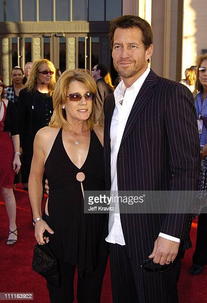 James Denton and wife Erin O'Brien during 32nd Annual American Music Awards - Red Carpet at Shrine Auditorium in Los Angeles, California.