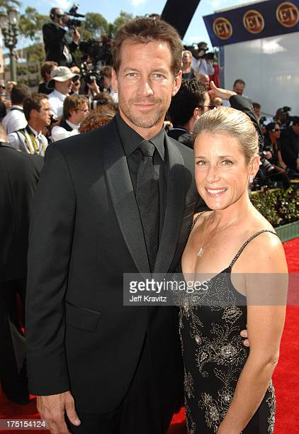 James Denton and wife Erin O'Brien during 57th Annual Primetime Emmy Awards - Red Carpet at The Shrine in Los Angeles, California, United States.
