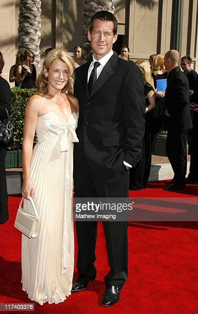 James Denton and wife Erin O'Brien during 58th Annual Creative Arts Emmy Awards - Arrivals at The Shrine Auditorium in Los Angeles, California,...
