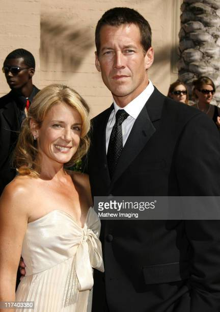 James Denton and wife Erin O'Brien during 58th Annual Creative Arts Emmy Awards Arrivals at The Shrine Auditorium in Los Angeles California United...