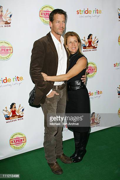 """James Denton and wife, Erin O'Brien during """"Modern Mom Mingle"""" Party - Arrivals at Skybar at Mondrian in West Hollywood, California, United States."""