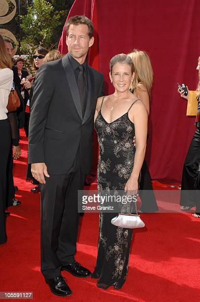 James Denton and wife Erin O'Brien during The 57th Annual Emmy Awards - Arrivals at Shrine Auditorium in Los Angeles, California, United States.