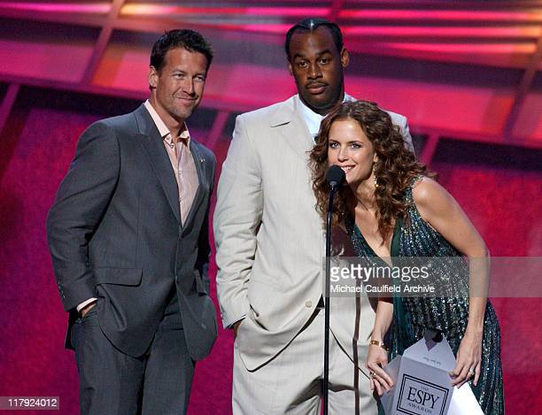 James Denton Donovan McNabb and Kelly Preston during 2005 ESPY Awards Show at Kodak Theatre in Hollywood California United States