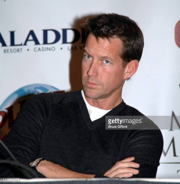 James Denton of 'Desperate Housewives' during 2006 Miss America Pageant Press Conference and 'Quality of Life' Award at Aladdin Resort and Casino in...