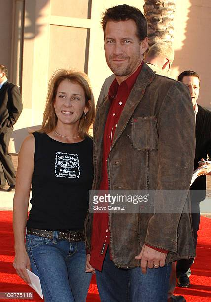 James Denton , presenter, and Erin O'Brien during 33rd Annual American Music Awards - Arrivals at Shrine Auditorium in Los Angeles, California,...