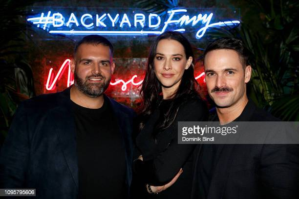 James DeSantis Melissa Brasier and Garrett Magee attend the 'Backyard Envy' premiere at The Standard Hotel on January 17 2019 in New York City