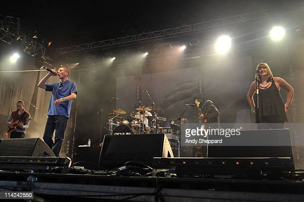James Devlin of Devlin performs on stage during the second day of BBC Radio 1's Big Weekend at Carlisle Airport on May 15 2011 in Carlisle United...