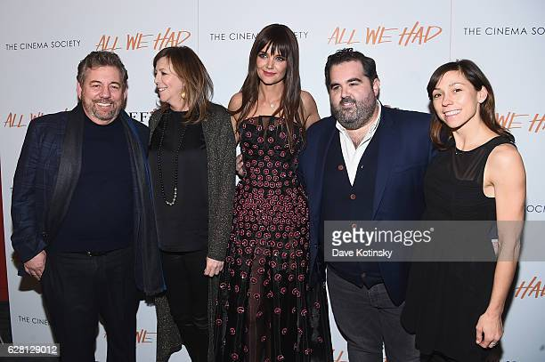James Dolan Jane Rosenthal Katie Holmes Berry Welsh and Katie Mustard attend The Cinema Society Ruffino Host A screening Of 'All We Had' Arrivals at...