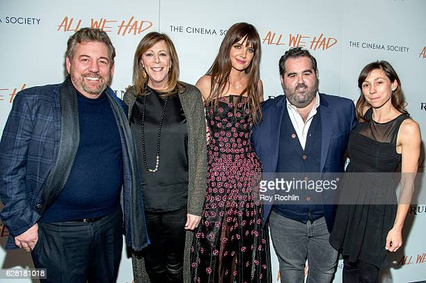 James Dolan Jane Rosenthal Katie Holmes Berry Welsh and Katie Mustard attend The Cinema Society Ruffino Host A screening of All We Had at Landmark...