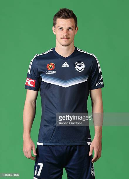 James Donachie of the Melbourne Victory poses during a Melbourne Victory ALeague headshots session on September 24 2016 in Melbourne Australia
