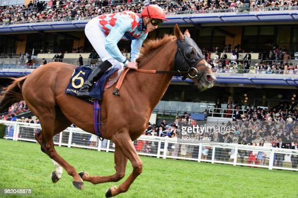 James Doyle on Red Verdon comes home in second in the Hardwicke Stakes on day 5 of Royal Ascot at Ascot Racecourse on June 23 2018 in Ascot England