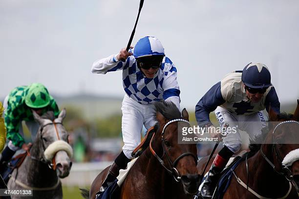 James Doyle riding Al Kazeem win The Tattersalls Gold Cup at Curragh racecourse on May 24 2015 in Kildare Ireland